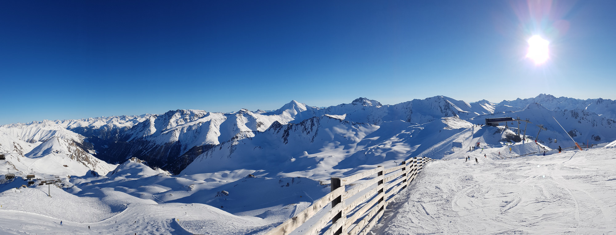 Samnaun Winter Panorama
